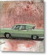 Old Green Car Metal Print