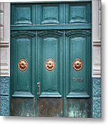 Old Green Door Metal Print