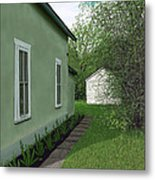 Old Green House Metal Print