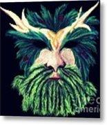 Old Green Man Winter Metal Print
