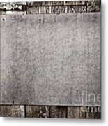Old Grunge Plywood Board On A Wooden Wall Metal Print