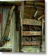 Old Hanging Ladderback Metal Print