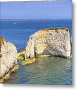 Old Harry Rocks - Purbeck Metal Print