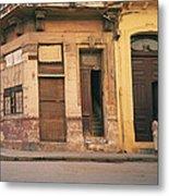 Life In Old Havana Metal Print