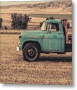 Old Hay Truck In The Field Metal Print