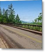 Old Highway And Forest Metal Print