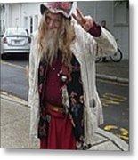 Old Hippie In Woodstock Ny  Metal Print