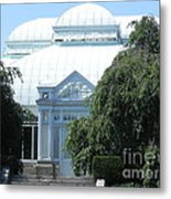 Old Historical Building At Botanical Gardens Of New York Metal Print