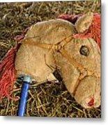 Old Hobby Horse Head Metal Print