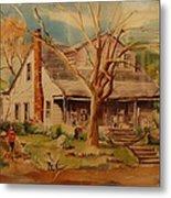 Old Home  Metal Print by Lynn Beazley Blair