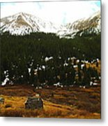 Old Homestead In The Colorado Mountains Metal Print