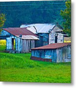 Old House And Harvest Time 2 Metal Print