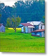 Old House And Harvest Time Metal Print