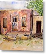 Old House In Clovis Nm Metal Print