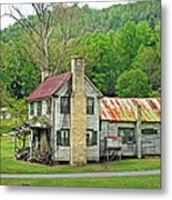 Old House In Penrose Nc Metal Print