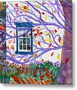 Old House In The Fall Metal Print