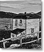 Old House - Memories - Shutters And Boards Metal Print