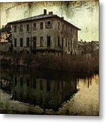 Old House On Canal Metal Print