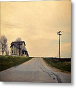 Old House On Country Road Metal Print