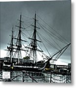 Old Ironsides Blue Tone Metal Print by Linda Ryan