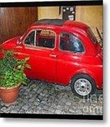 Old Italian Car Fiat 500  Metal Print