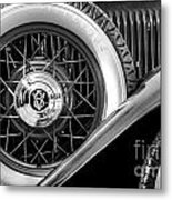 Old Jag In Black And White Metal Print