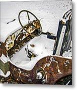 Old Jeep - New Snow Metal Print