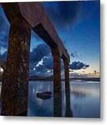 Old Jetty At Sunrise Metal Print