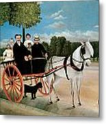 Old Junier's Cart Metal Print by Henri Rousseau