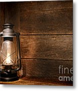Old Kerosene Light Metal Print