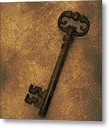 Old Key Metal Print