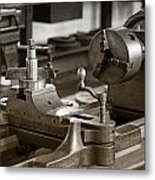 Old Lathe Metal Print