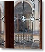 Old Lead Glass Window Metal Print