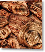 Old Leather Metal Print by Bill Wakeley