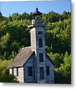 Old Lighthouse Metal Print by Brett Geyer