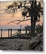 Old Lighthouse In Sunset Metal Print