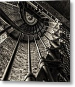 Old Lighthouse Stairway Metal Print
