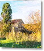 Old Little Stones House In Provence Metal Print
