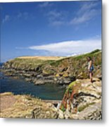 Old Lizard Head And Polpeor Cove Metal Print
