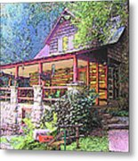 Old Log Cabin Home Metal Print