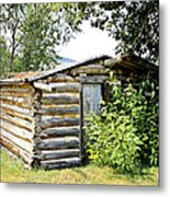 Old Log Homestead IIi Metal Print
