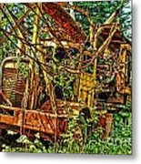 Old Logger-hdr Metal Print