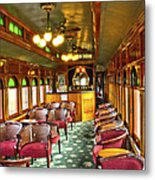 Old Lounge Car From Early Railroading Days Metal Print