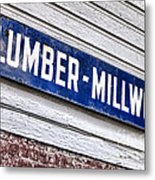Old Lumberyard Sign Metal Print