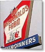 Old Macdonalds Farm Metal Print
