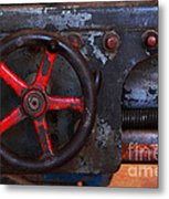 Old Machine Tool Metal Print