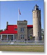 Old Mackinac Mi Lighthouse 19 Metal Print