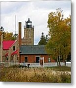 Old Mackinac Point Lighthouse In October Metal Print