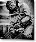 Old Man In Canal Park Metal Print
