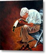 Old Man Reading Metal Print